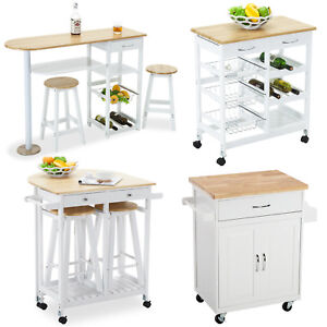4-Styles-Portable-Wood-Kitchen-Island-Cart-Trolley-Dining-Table-Storage-Cabinet