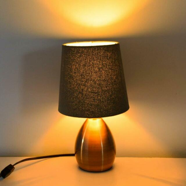 Bedside Lamp For Nightstand Alucset
