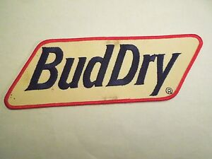 Bud Dry Jacket Iron On Patch - Part of Anheuser-Busch