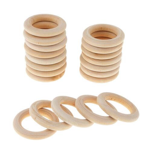 20 Stücke Holzring Holzringe Lose Perlen DIY Armband Halskette