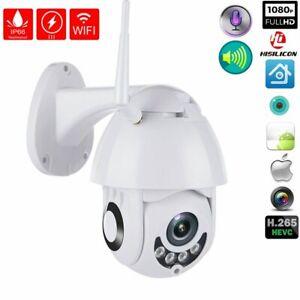 Wireless Outdoor Dome CCTV HD 1080P WIFI IP Camera Security IR Cam Waterproof UK