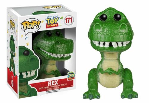 Toy Story Funko POP 20th Anniversary w// Protector Disney Rex Vinyl Figure 171