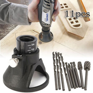 Dremel-Rotary-Multi-Tool-Cutting-Guide-HSS-Router-Drill-Bit-Set-Attachment-KitGX