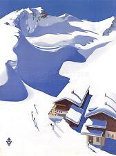 ART PRINT POSTER TRAVEL AUSTRIA SKI LODGE ALPS SNOW NOFL1083