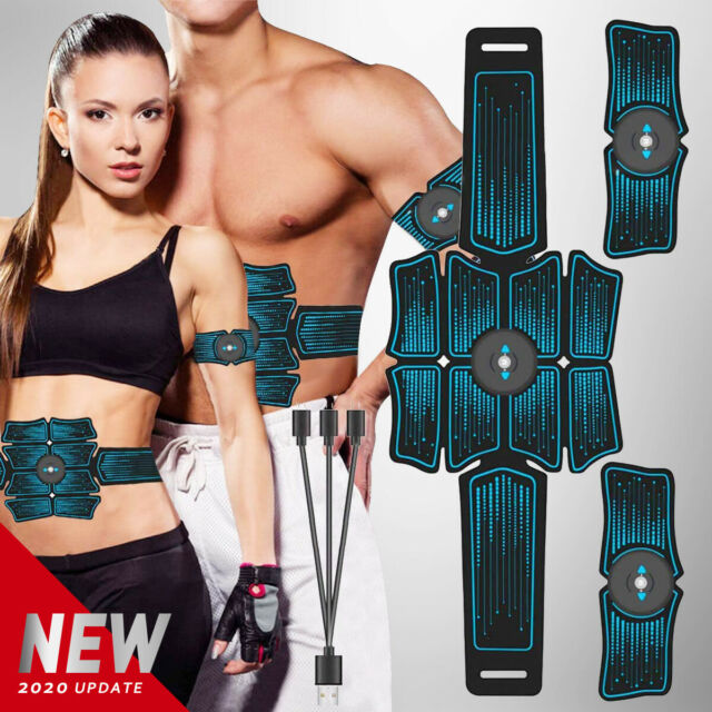 3 In 1 Abdominal Trainer ABS EMS Muscle Stimulator Hip Toner Toning Fitness Belt