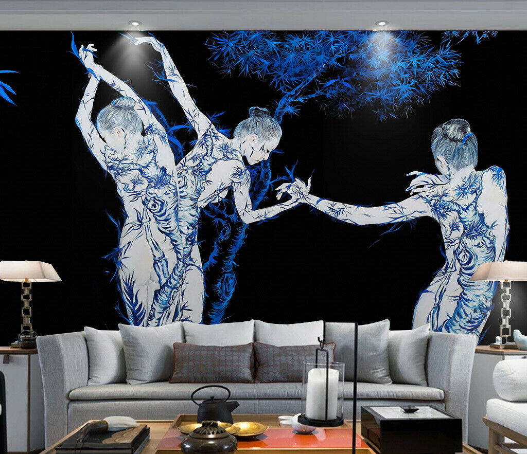 3D Dance Body Girl I327 Wallpaper Mural Sefl-adhesive Removable Sticker Wendy