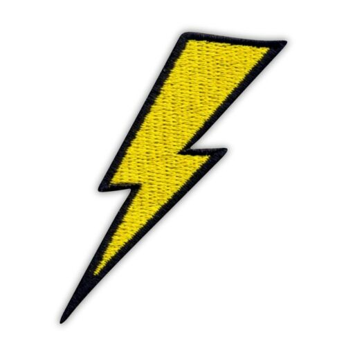 Lightning thunder Embroidered PATCH//BADGE