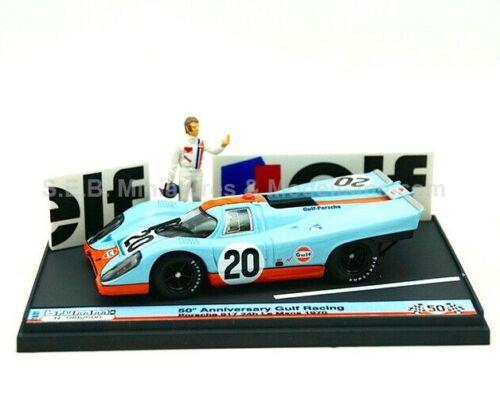 FIGURINE  1:43 BRUMM PORSCHE 917K N°20 JWA-GULF RACING TEAM 24H DU MANS