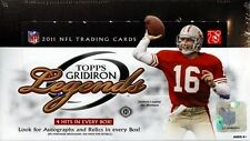 2011 TOPPS GRIDIRON LEGENDS FOOTBALL HOBBY BOX BLOWOUT CARDS