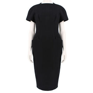 Proenza Schouler Luxurious Black Hourglass Dress US6 UK10