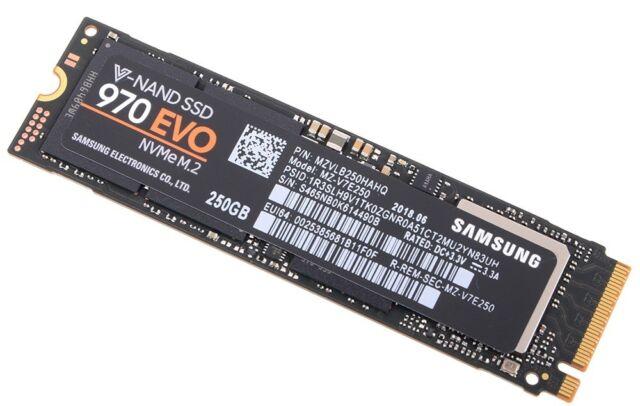 Samsung Mz V7e250 970 Evo Nvme M 2 Internal Solid State Drive 250gb