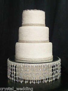 Image Is Loading Ab Crystal Wedding Cake Stand Separators Round Or