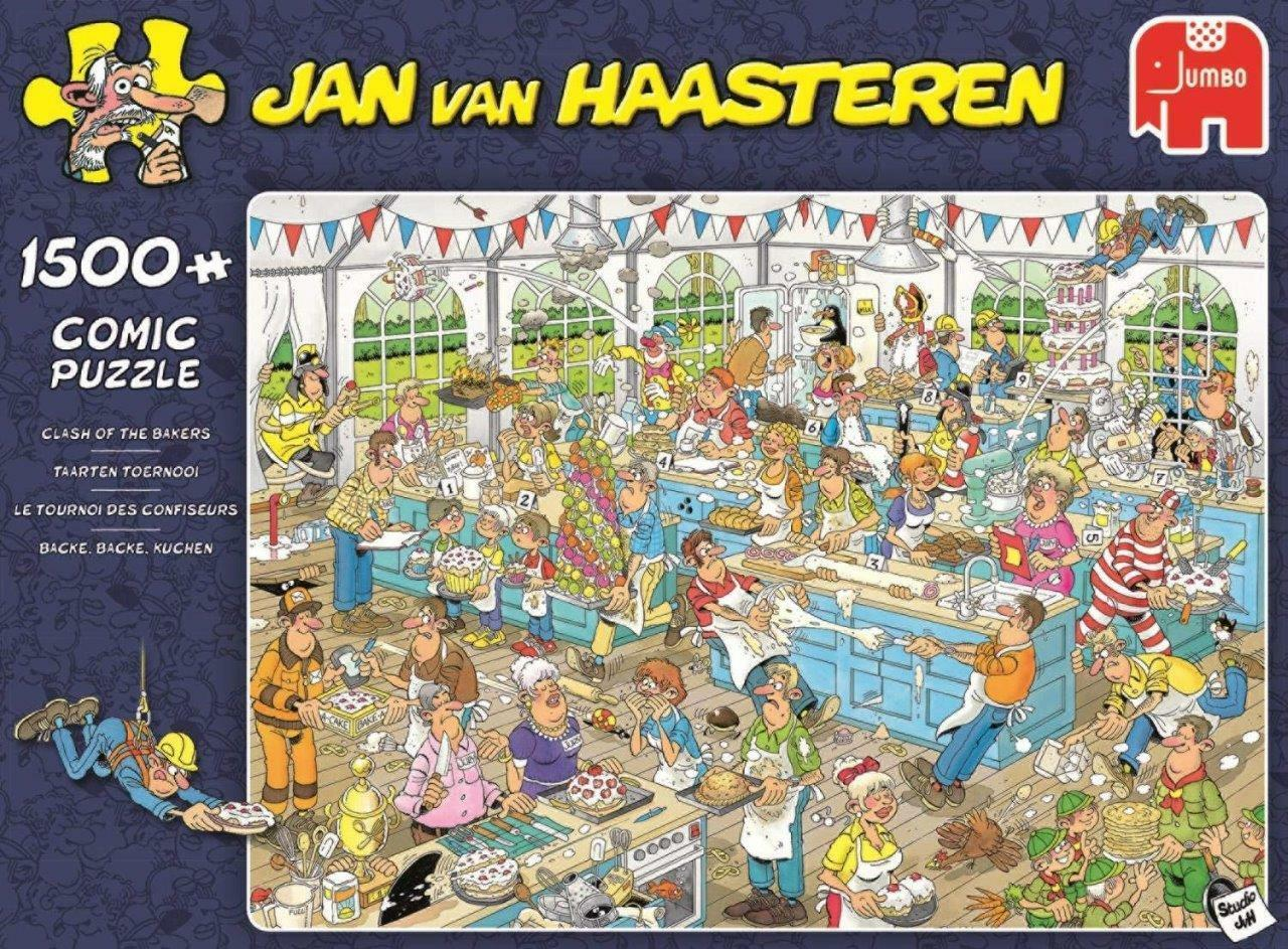 JUMBO PUZZLE CLASH OF THE BAKERS JAN VAN HAASTEREN 1500 PCS CARTOON