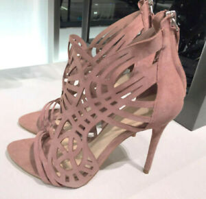 Details Out High Cut Heel Sandal 1540101 Blush Pink About Shoes Zara Leather Openwork OiuPTkXZ