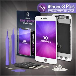 Ersatz-LCD-iPhone-8-PLUS-Display-Weiss-KOMPLETT-VORMONTIERT-Retina-Bildschirm-Fix