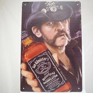 Lemmy-Kilmister-Metal-Tin-Sign-Poster-Band-Music-Motorhead-Metal-Retro-Rock