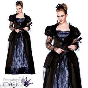 DELUXE-LADIES-TEEN-HORROR-FAIRYTALE-WICKED-QUEEN-HALLOWEEN-FANCY-DRESS-COSTUME