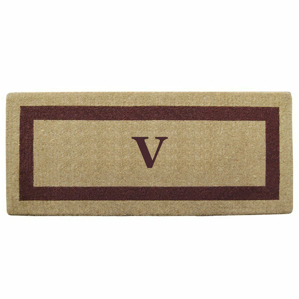 Creative Accents Single Picture Marronee Frame Heavy Duty Coir Doormat, 24x 57in, V