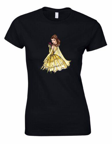 Belle Beauty and the Beast Disney Fashion Ladies Woman Cut Tshirt Tee Top AA97