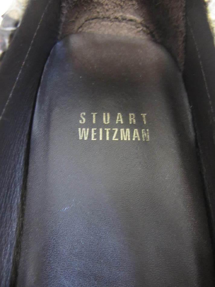 STUART STUART STUART WEITZMAN brown python snake skin loafers shoes 7 M b1c9a7