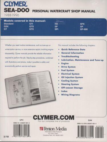 GSX SPI 1988-1996 SeaDoo SP GTX Service Repair Manual XP HX GTS ...