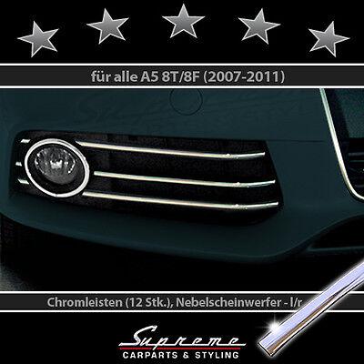 Audi A5 8t 8f 07-11 Cromo Modanature 3M per Griglia Radiatore Fendinebbia Typ 1