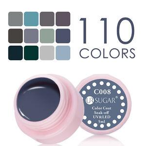 5ml-Soak-Off-UV-Gel-Nagellack-Gellack-Nail-Polish-Grau-Serie-UR-SUGAR-C001-012
