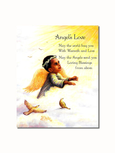 African American Black Angel/'s Love Wall Picture 8x10 Art Print