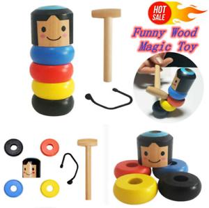 Immortal Daruma Small Wooden Man Stubborn Unbreakable Wood Magic Game Toys UK