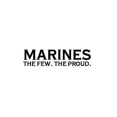 Aufkleber//Sticker USAF Marines United States Corps the few the proud 7x7cm A1654