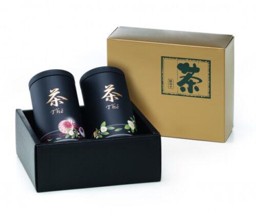 2 japanische Teedosen ANAKUSA Geschenkset 2x 100g Designer Teedose Japan