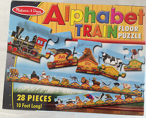MELISSA DOUG ALPHABET TRAIN PC FLOOR PUZZLE ABC FT LONG - Melissa and doug floor puzzle