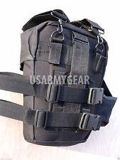 Army Black Tactical Cargo Training Pack Fanny Butt Waist Leg Shoulder Bag Sling