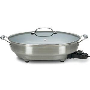 Cuisinart-CSK150-5Qt-1500-Watt-12-034-x-15-034-Nonstick-Oval-Electric-Skillet