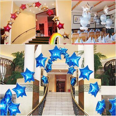 "Cute 18"" Star Shape Foil Metallic Balloon For Birthday Wedding Parties 7 Colors"
