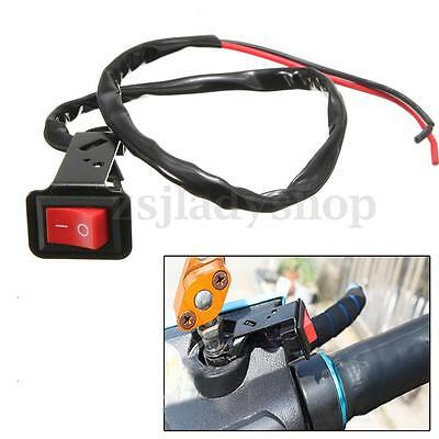MOTORCYCLE SCOOTER ATV PIT DIRT BIKE LED HEADLIGHT FOG SPOT LIGHT ON OFF SWITCH