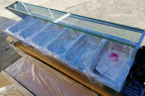New Hot Food Bain Marie 6 X 1 3gn Tray Poly Cover Glass