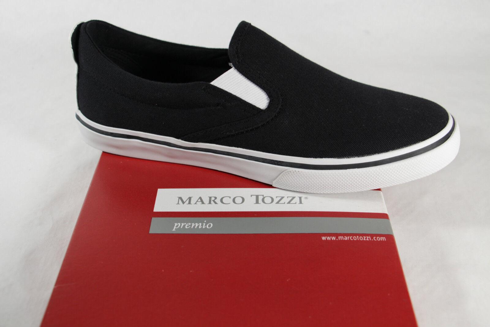 Marco Tozzi Women's Slip-Ons, Black, Rubber Sole, Fabric New