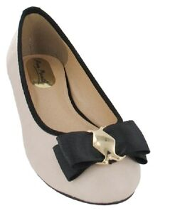 SALE-Ladies-Nude-Casual-Slip-On-Ballerina-Shoes-Anne-Michelle-L4945