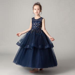 Flower-Girl-Dress-Princess-Formal-Graduation-Bridesmaid-Size-4-14-ZG9