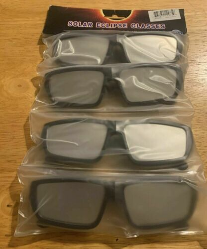 Solar Eclipse Glasses 2017 CE ISO Certified UV400 Sun Light Protection 4 Pack