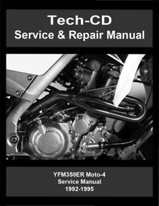 image is loading yamaha-yfm350er-moto-4-service-repair-manual-yfm-