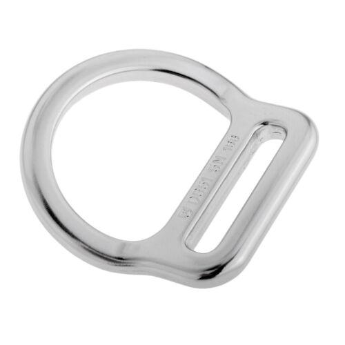 Heavy Duty 23KN Slotted Bent D Ring für Rock Klettern Arborist Waist