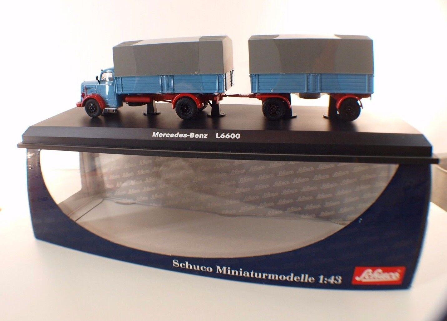 Schuco 03102 camion Pompiers Mercedes-Benz L6600 Berufsfeuerwehr Fürth 1 43