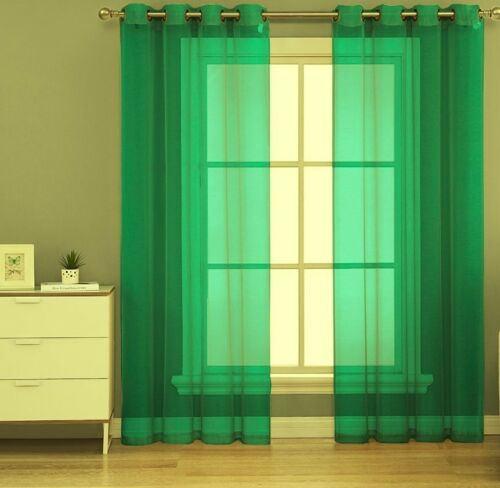 1PC GROMMET SOLID VOILE SHEER PANEL WINDOW CURTAIN TREATMENT DRAPE NEW DECOR