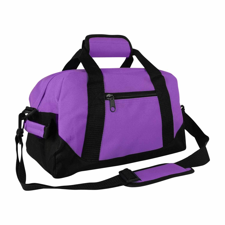 DALIX 14 Duffle Gym Mini Travel Bag Green Black Gray Blue Red Pink Orange