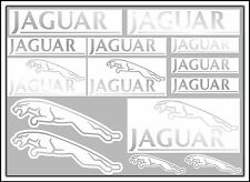 SILVER JAGUAR decal set 14 quality printed and laminated stickers free delivery