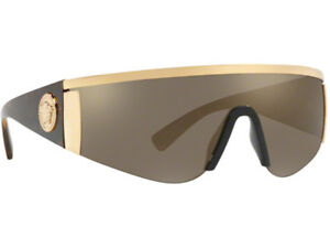 68dba94436 NWT Versace Sunglasses VE 2197 1000 5A Gold   Mirror Gold Brown 40 ...