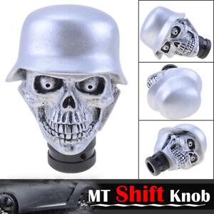 NEW Universal Silver Skull Head Gear Shift Knob Manual MT Stick Lever Shifter
