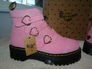 Dr-Martens-Pink-LAZY-OAF-Suede-Buckle-Boot-Lo-Boots-Size-9-UK-BNIB-SOLD-OUT